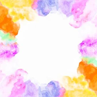 Borde de pintura colorida
