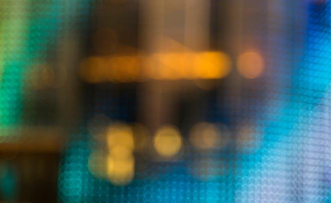 Borrosa luces de estilo bokeh en la noche