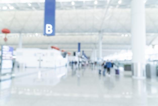 Borroso abstracto y aeropuerto desenfocado