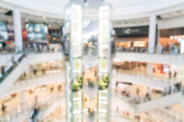 Borroso abstracto en un centro comercial de lujo y una tienda minorista