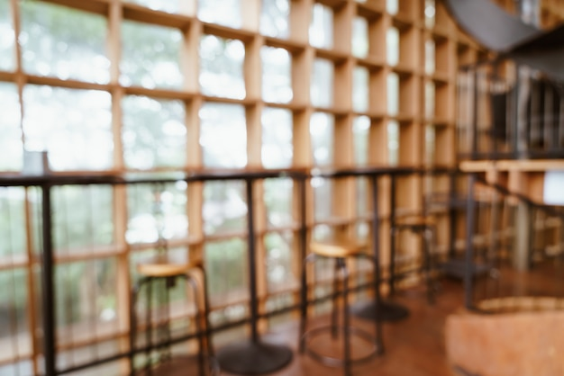 Borroso abstracto y desenfocado en café y restaurante para el fondo