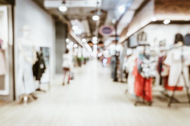 Borroso abstracto y desenfocado en un centro comercial de lujo y una tienda minorista para el fondo