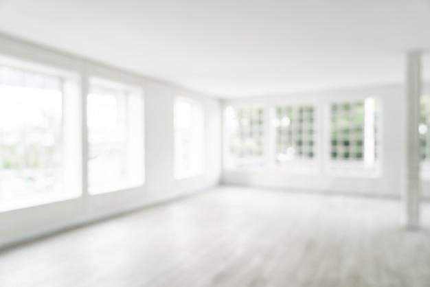 Borroso abstracto habitación vacía con ventana de vidrio