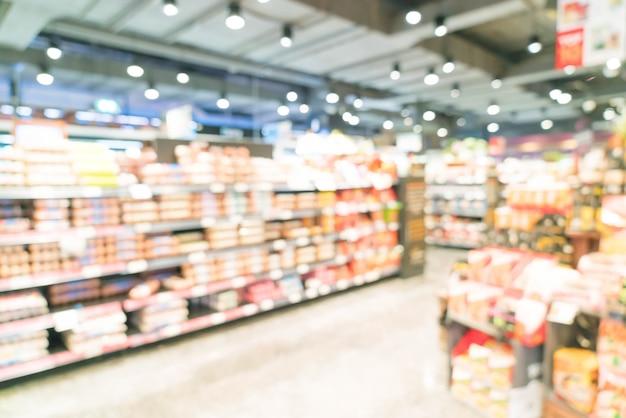 Borroso abstracto en supermercado