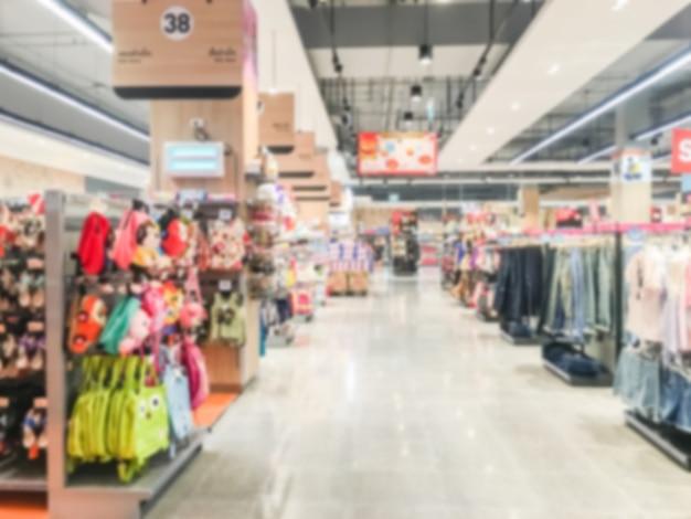 Borroso abstracto supermercado