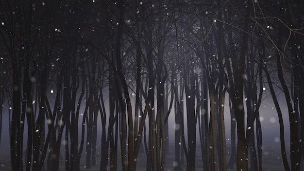 Bosque nevado 3d