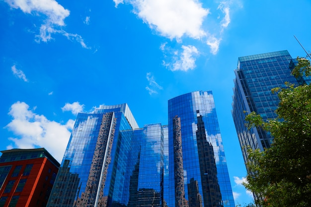 Boston en los edificios del centro de massachusetts