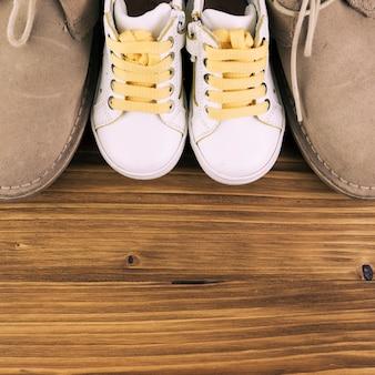 Botas de hombre y niño