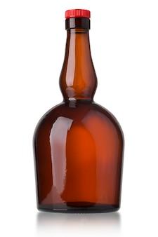 Botella aislada en superficie blanca