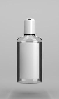 Botella de desinfectante de manos con alcohol