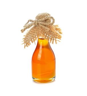 Botella de miel en blanco