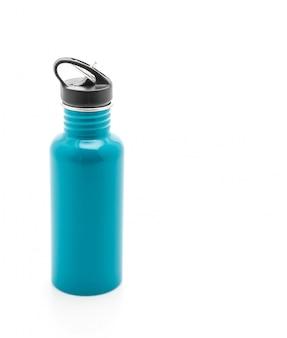 Botella de vacío en blanco
