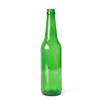 Botella verde aislado sobre fondo blanco.
