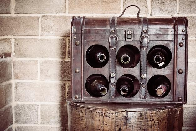 Botella de vino de la vendimia