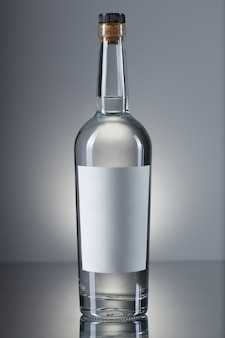 Botella de vodka aislada