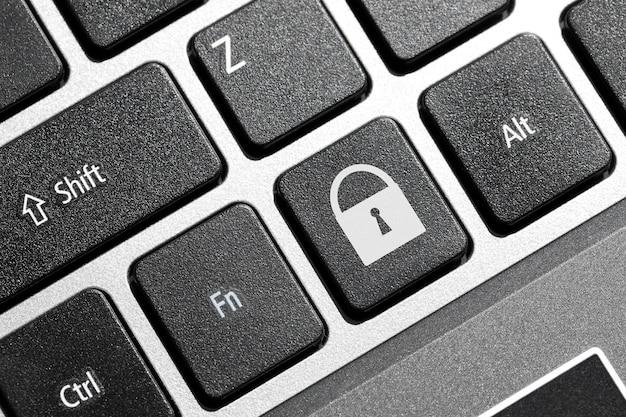 Botón de bloqueo en el teclado