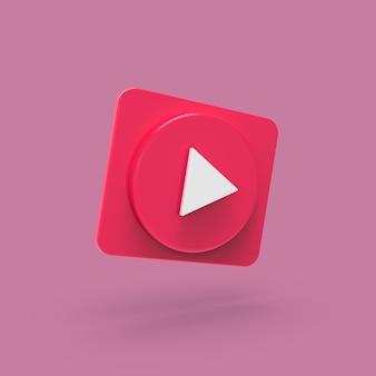 Botón play music concept redes sociales