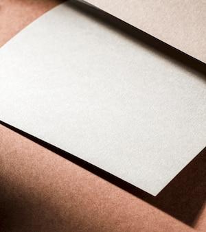 Branding primer plano papel texturizado alto ángulo