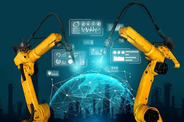 Brazos robóticos industriales inteligentes para tecnología de producción digital en fábrica