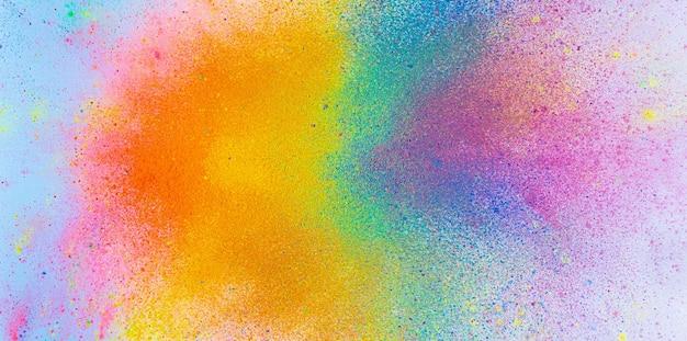 La brillante explosión de tintas de colores