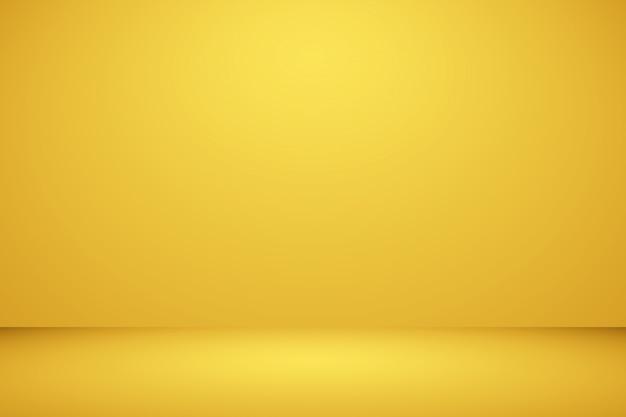 Brillante pared amarillo estudio borroso