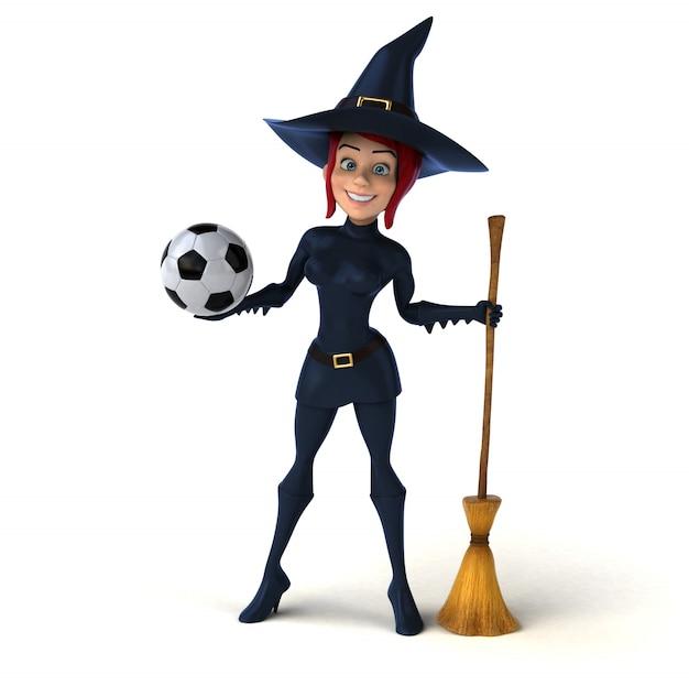 Foto Gratis | Vista frontal mujer jugando con balón de fútbol