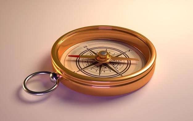 Brújula de oro antiguo