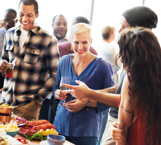 Brunch choice crowd dining opciones de comida comer concepto