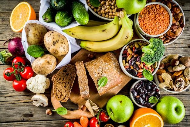 Buena comida rica en fibra de carbohidratos