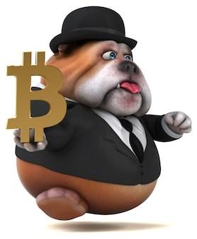 Bulldog divertido - ilustración 3d