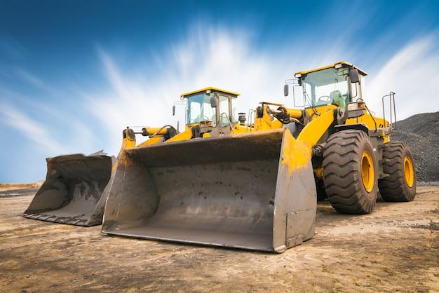 Bulldozer en una obra de construcción