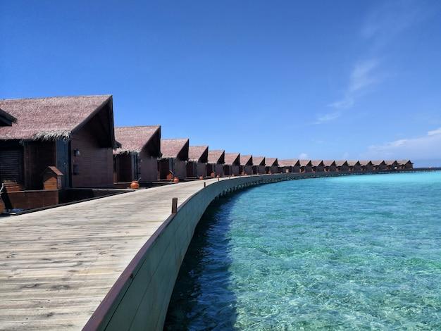 Bungalows acuáticos en maldivas
