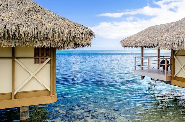 Bungalows sobre el agua, polinesia francesa