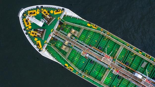 Buque cisterna de gas glp, vista aérea gas licuado de petróleo