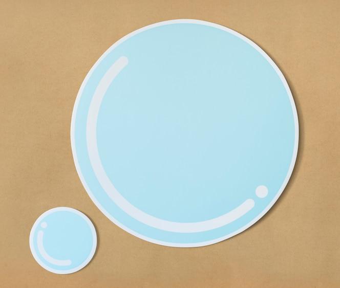 Burbuja de agua cortada icono de papel