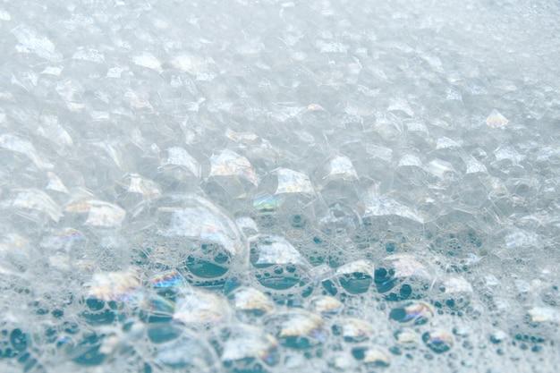Burbuja de jabón para lavar en agua para el fondo