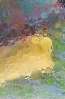 Burbuja con textura sobre el fondo colorido