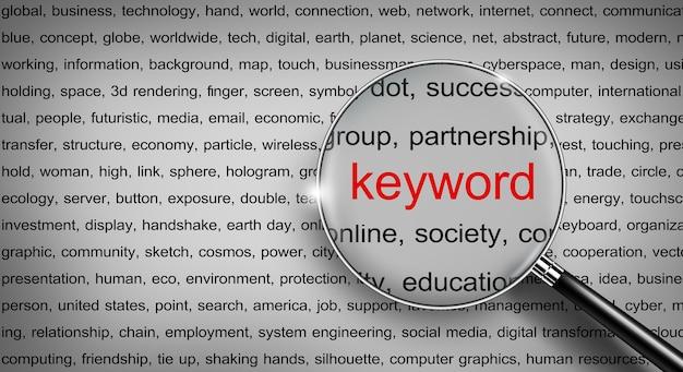 Búsqueda de datos de internet en la red de información de nube de palabras de búsqueda de palabras clave de google