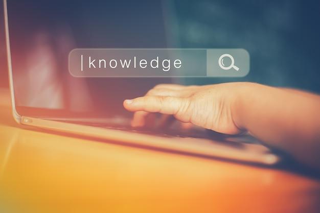 Búsqueda de redes de información de internet de navegación y el concepto de educación