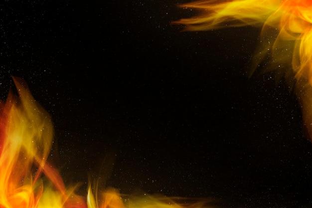 Busto en marco de borde de fuego de llama