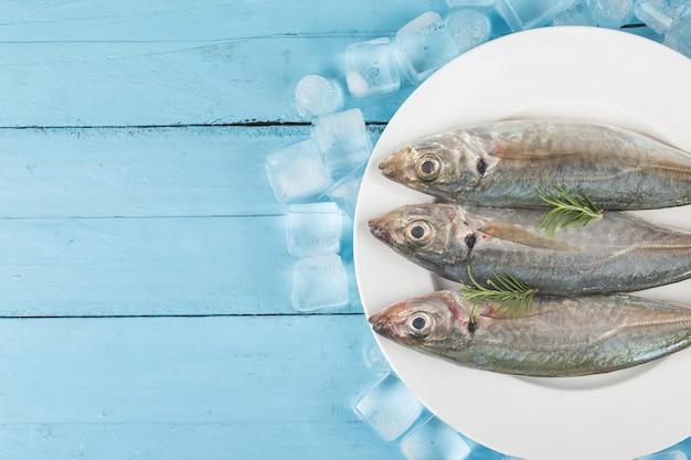 Caballa de pescado, caballa cruda y especias