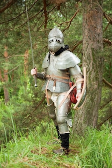 Caballero en armadura final de la edad xv