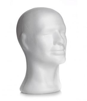 Cabeza masculina de espuma de poliestireno