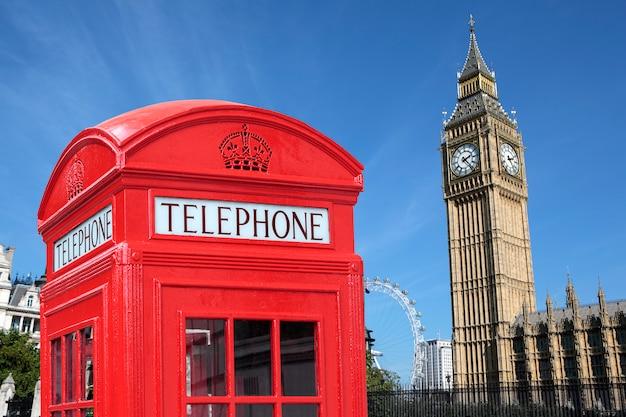 Cabina telefónica de londres big ben