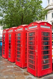 Cabinas telefónicas rojas viejas de londres