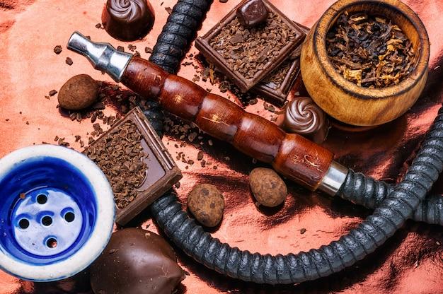 Cachimba de tabaco con sabor a chocolate.