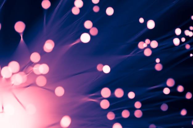 Cadena rosa luces fibra óptica
