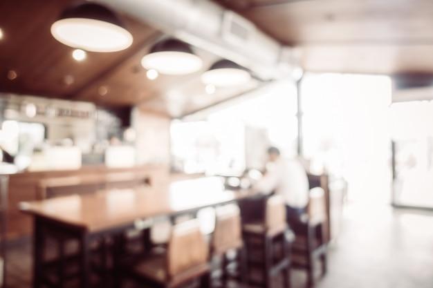 Café borroso abstracto cafetería