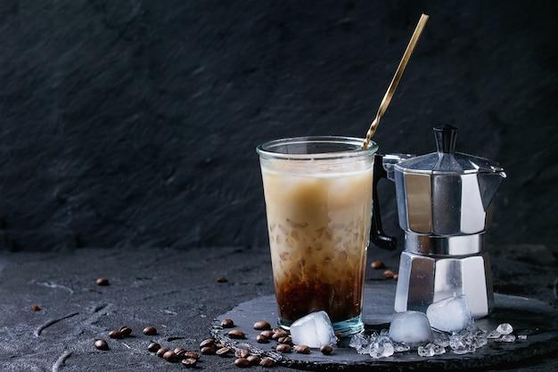 Café hielo con crema