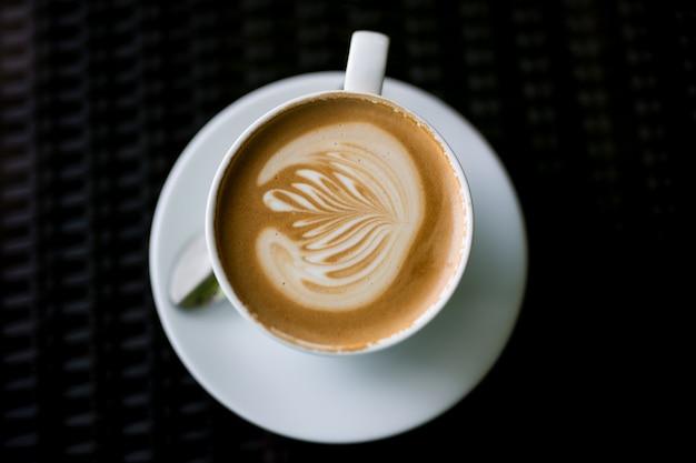 Café con leche caliente